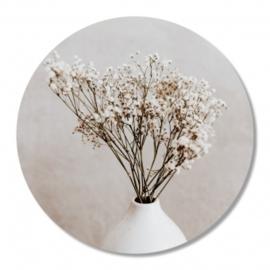 Vintage bloem 30 cm incl standaard