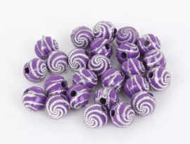 Swirl donker paars 50 stuks 8 mm