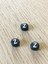 10 x letter Z ROND ZWART