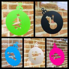 5 Kerstballen stickers