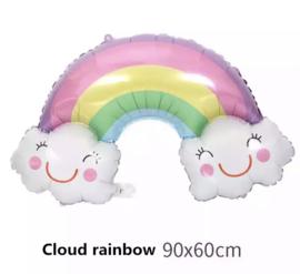 Regenboog wolk