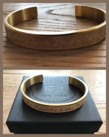 Manchet armband gold