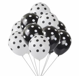 11x stippen ballonnen mix
