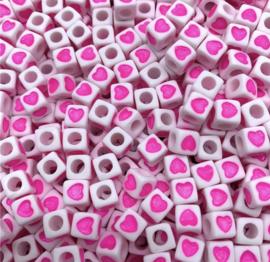 50 stuks roze 7 mm
