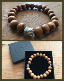 Houten Buddha armband
