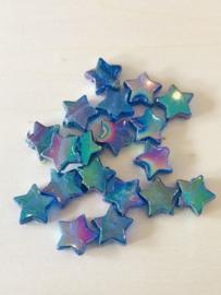 25 sterren 11x4mm Donkerblauw