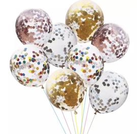 10x random confetti ballonnen
