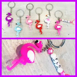 Flamingo diverse kleuren met naam