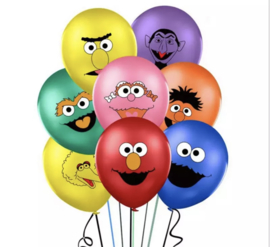 10x Sesamstraat ballonnen