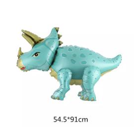 Dino turquoise folieballon
