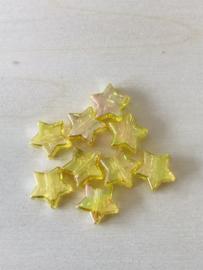 25 sterren 11x4mm Geel