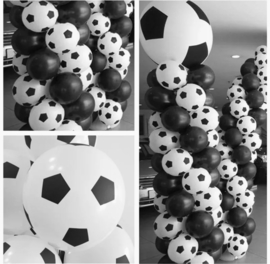 10x mix voetbal ballonnen