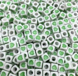 50 stuks groen 7 mm