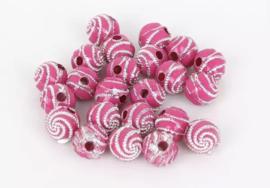 Swirl fuchsia 50 stuks 8 mm