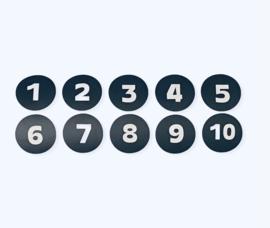 Cirkel cijfer stickers (cijfer naar keuze)
