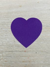 Sticker hart Paars