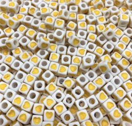 50 stuks geel 7 mm