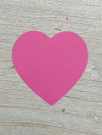 Sticker hart roze
