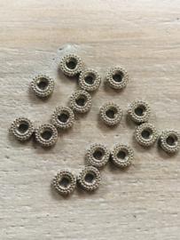 Zilveren rondjes 7x8mm 10 stuks