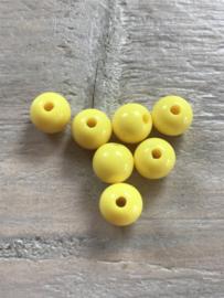 Acryl kralen 8 mm 50 stuks geel