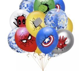 10 x superheld mix ballonnen