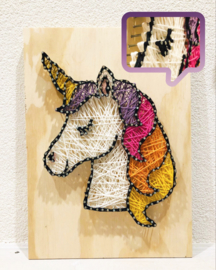 Draadkunst, string art workshop/kinderfeest