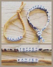Topper of kanjer elastische armbandjes