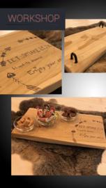 Hout branden teak houten tapas plank