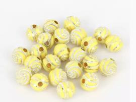 Swirl geel 50 stuks 8 mm