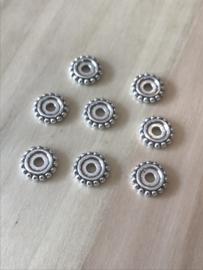Bloemen schuifkraal 8 mm per 10 stuks