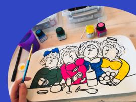 Dikke Dames porselein workshop