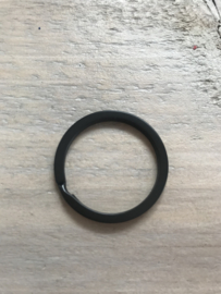 Sleutelring zwart 32 mm