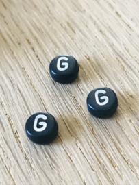 10 x letter G ROND ZWART