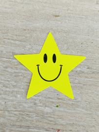 Sticker neon ster Geel