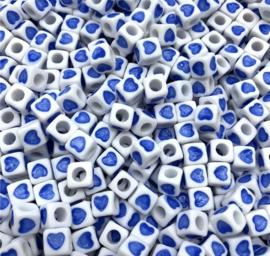 50 stuks blauw 7 mm