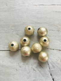 Glitter goud 50 stuks 8 mm