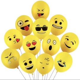 10x Smiley ballonnen