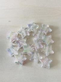 25 sterren 11x4mm Wit