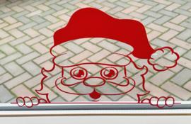 Raamstickers gluur kerstman 10 kleuren