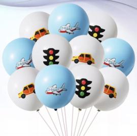 10x VERKEER ballonnen