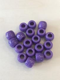 Groot gat 8 mm paars 25 stuks