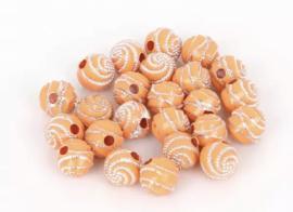 Swirl oranje 50 stuks 8 mm