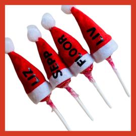 Chupa chups lolly met mini kerstmuts