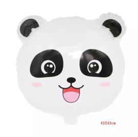 Panda hoofd folieballon