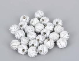 Swirl wit 8 mm 50 stuks