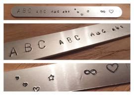 Metalen Slag Armband Met Leder
