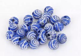 Swirl blauw 50 stuks 8 mm