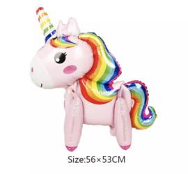 Unicorn roze folieballon
