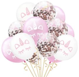 15 Delige unicorn set ballonnen