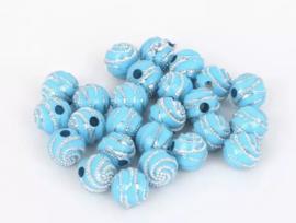 Swirl turquoise 50 stuks 8 mm